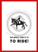 Horse Dressage Christmas Card